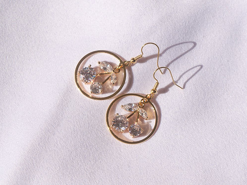 """""""Fruit of the Gods"""" Gold Plated Earrings"""