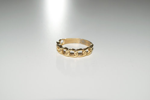 """Link Up"" Gold Plated Ring"