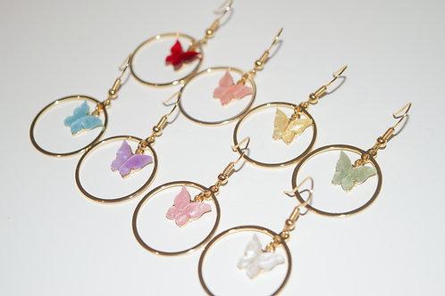 """""""Monarch Hoop"""" Butterfly Earrings"""