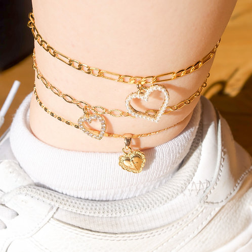 """Heart of Hearts"" Anklet Collection"