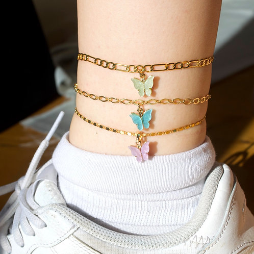 """""""Monarch"""" Gold Plated Anklet"""