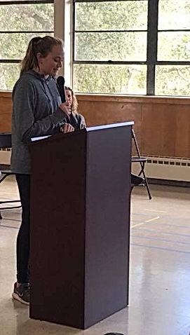 2018 BVA student body president reads The BVA Way