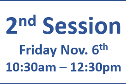 2nd Session 10:30am - 12:30pm