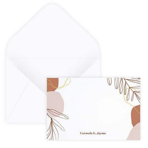Terra Cotta & Blush Notecard