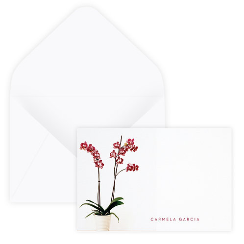 Orchids Notecard