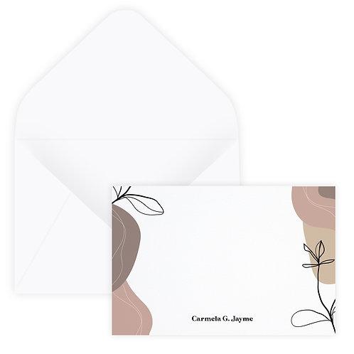 Dusty Rose & Ivory Notecard