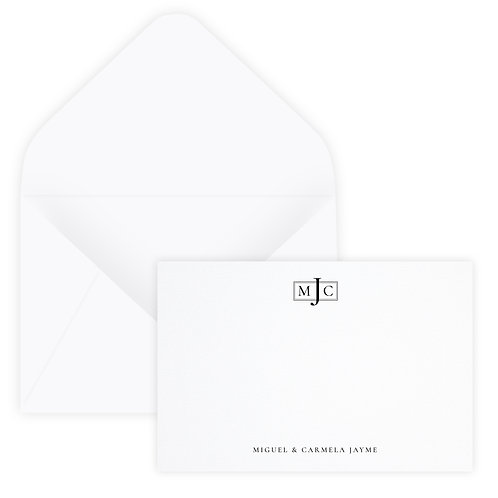 Couple's Initials Notecard