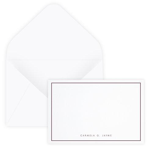 Thin Border Notecard