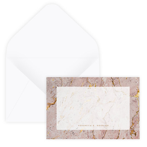 Pink & Gold Marble