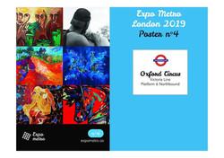 Exposition ARTQUID Métro de Londres Dèc. 2019