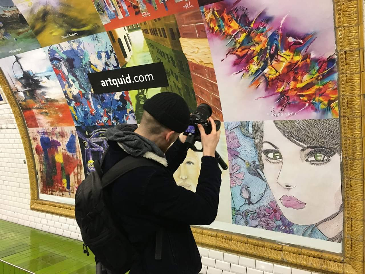 Exposition Métro Chatelet PARIS