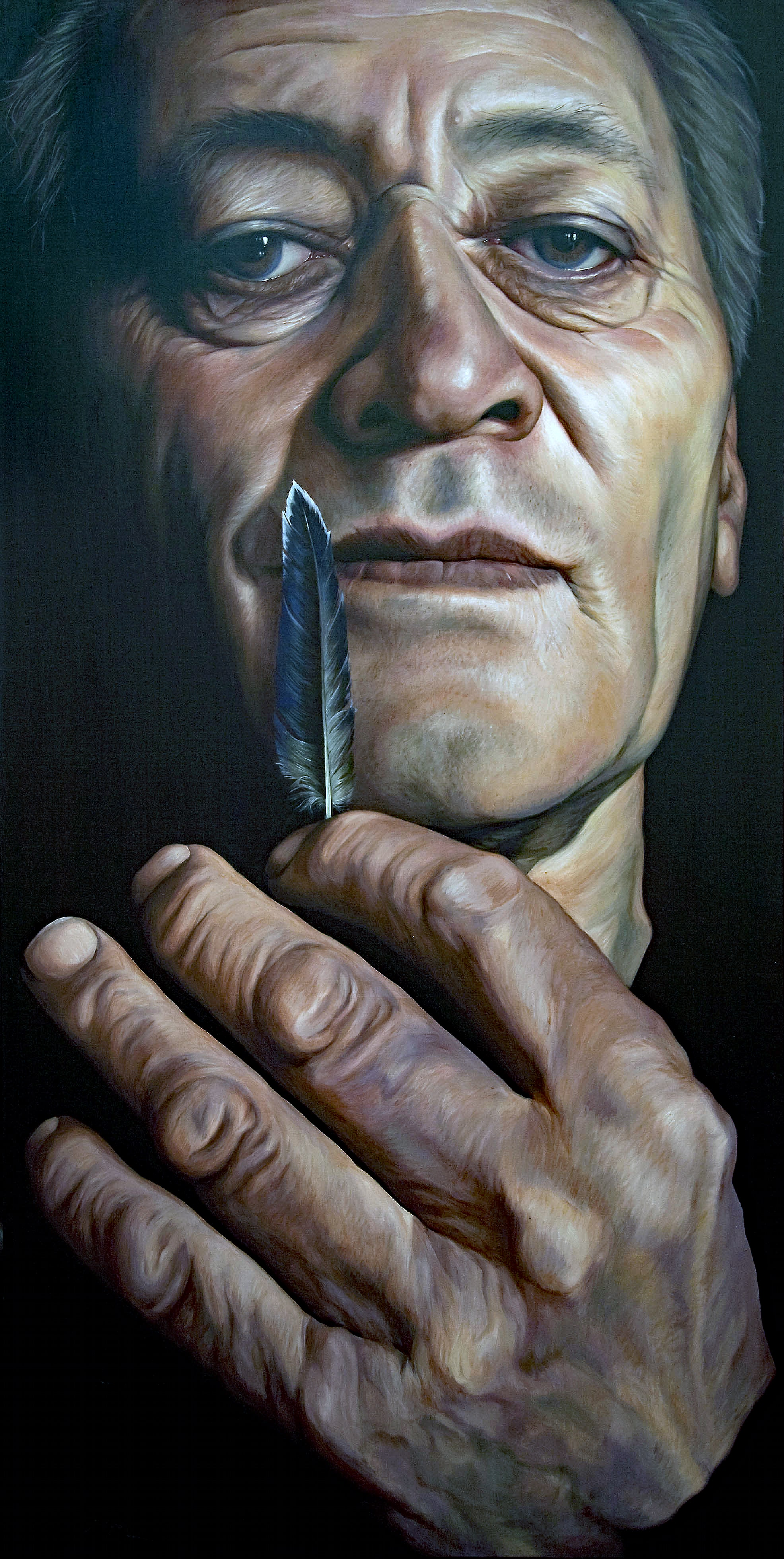 'Lost Chief'  oil on canvas  80 x 160cm