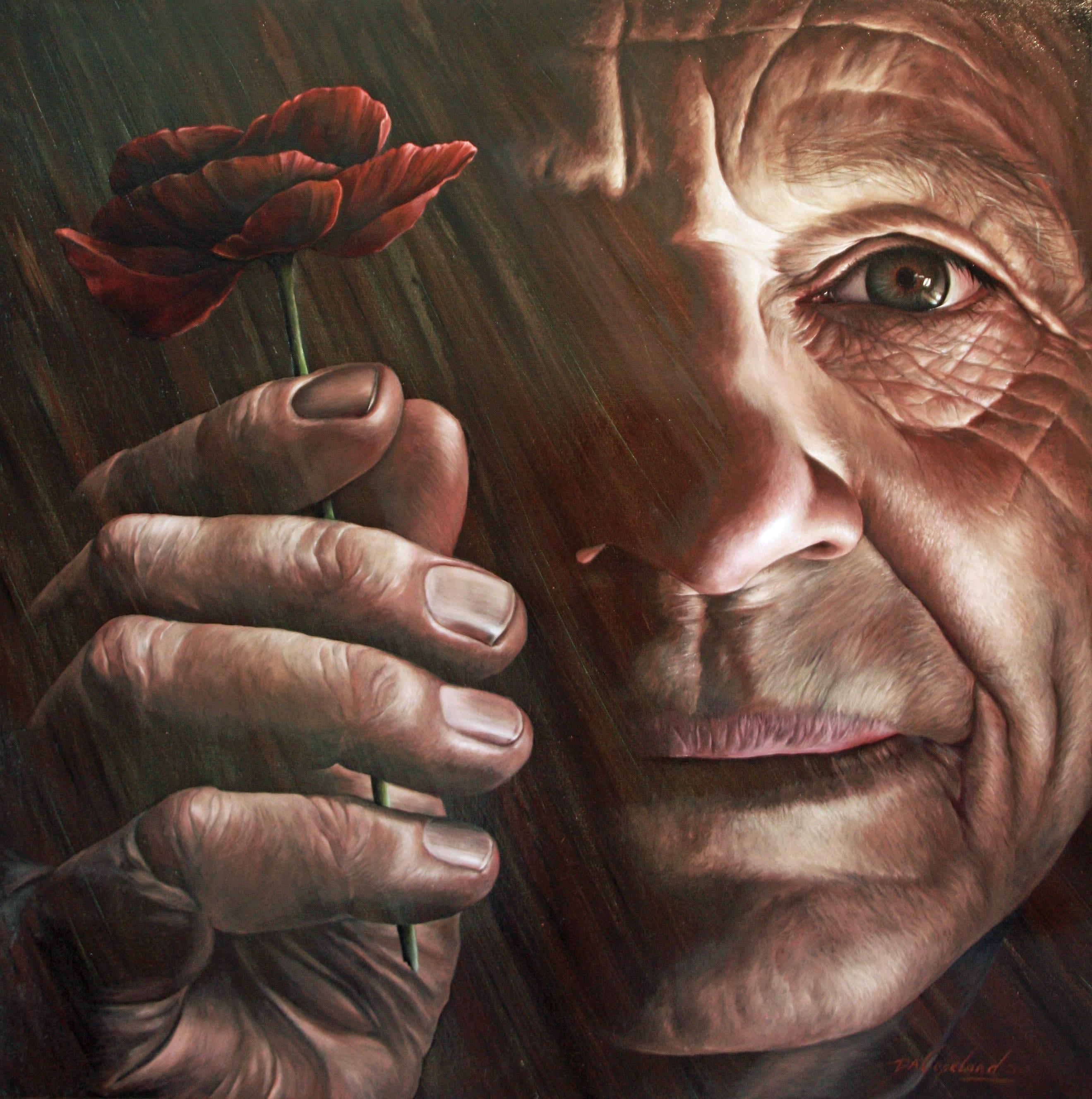'Anzac Dawn' Oil on canvas & Resin, 100x