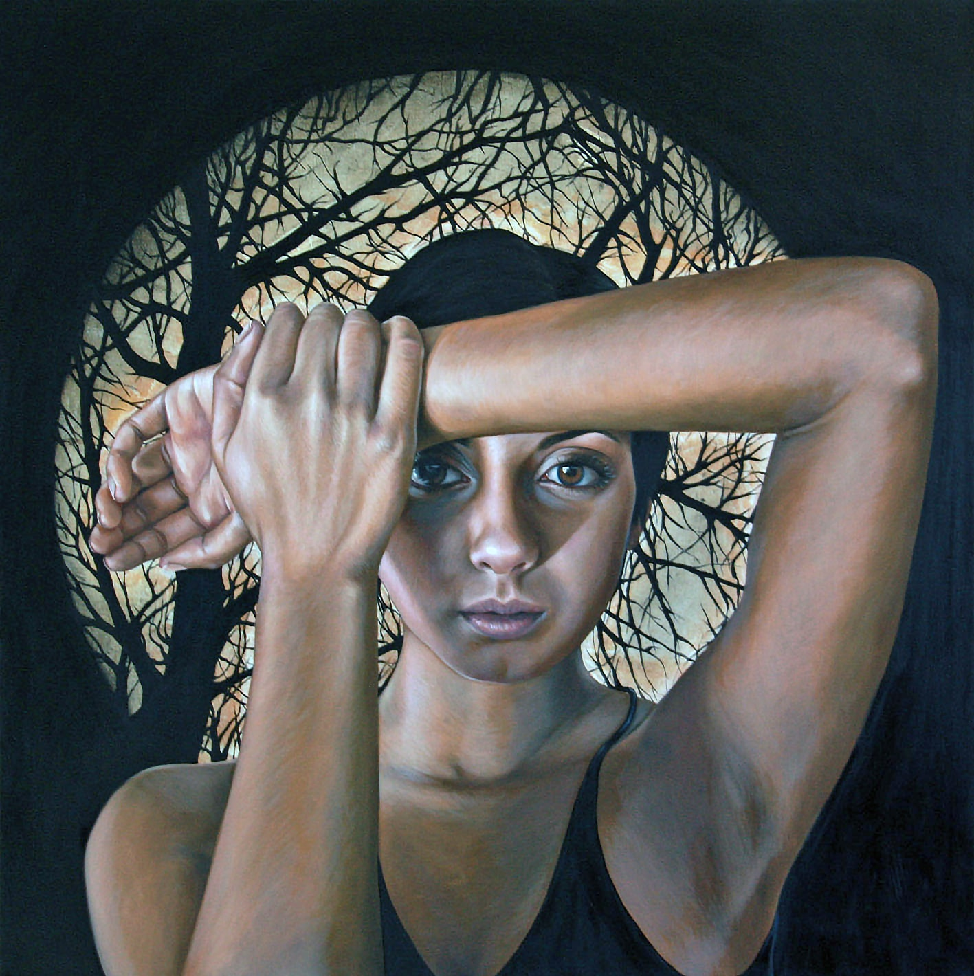 'Midnight', oil on canvas, 90x90cm, $13,