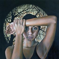 'Midnight', oil on canvas, 90x90cm, $13,