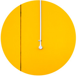 Switch on yellow wall