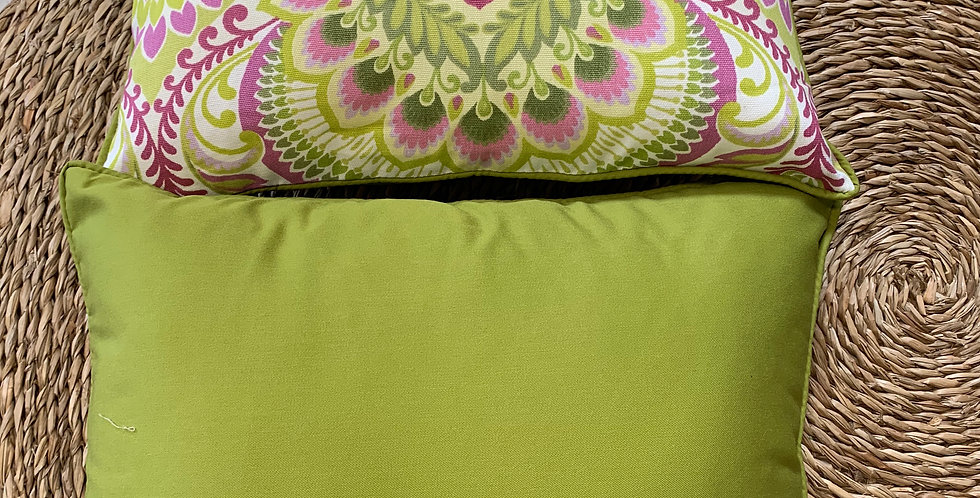 Cushion - Pink/Green