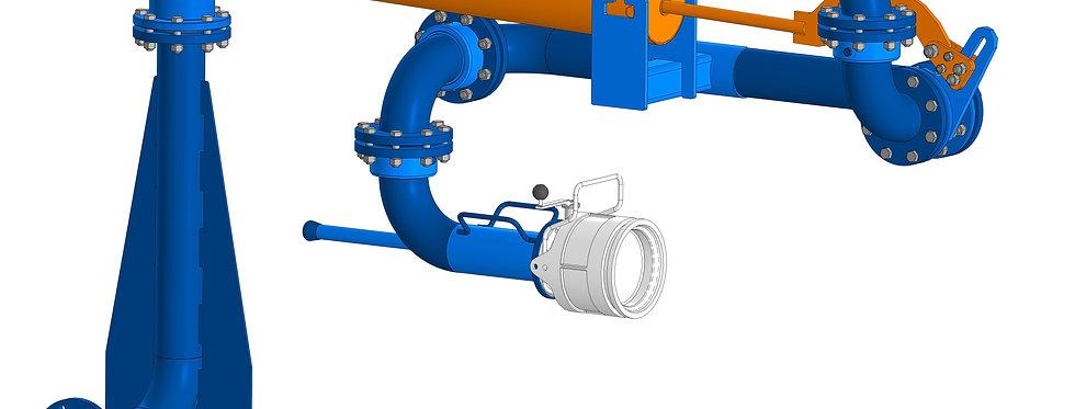 Устройство нижнего налива (слива) автоцистерн АСН-100-Н