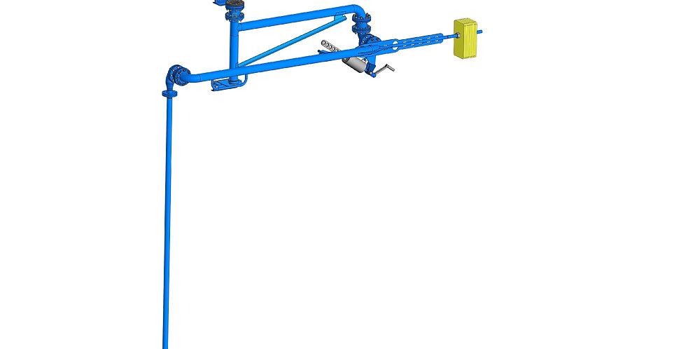 Устройство для верхнего размыва нефти и нефтепродуктов в ж/д цистернах