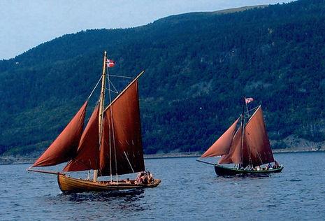 Gavelbåt Otnesbrygga Kyslag Valsøyfjord