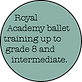 Royal Academy ballet training up to grade 8 and intermediate.