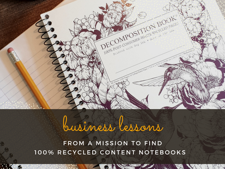 Business lessons from a mission to find100% recycled content notebooks