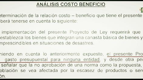 Un ACB para el Congreso - Evaluando los costos y beneficios de una medida