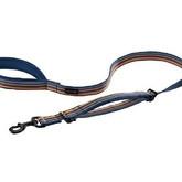 Reflective Neoprene Padded Dog Traffic Second Handle Leash Manufacturer - Blue.JPG