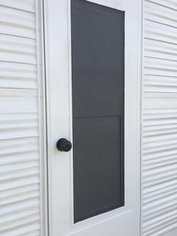 Camper door screen
