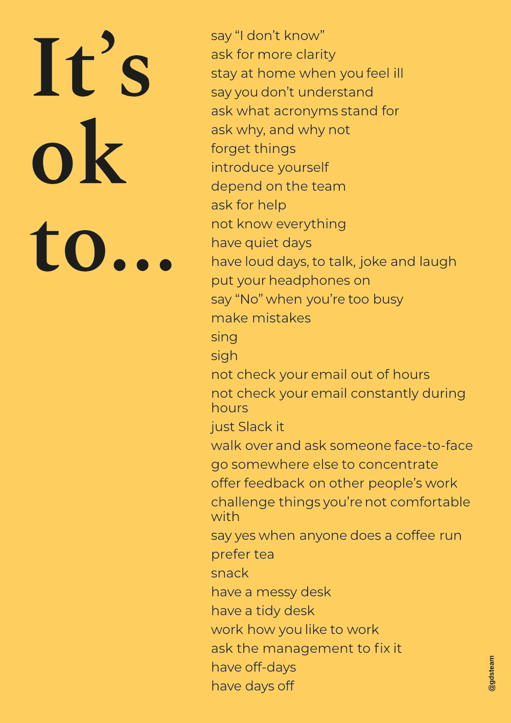 List of things you can do when you are struggling with Mental health at work