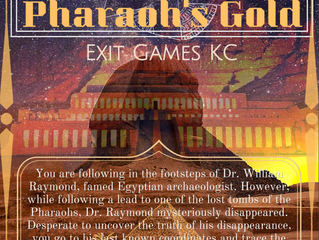 Introducing... Pharaoh's Gold! The NEWEST Exit Games KC Room!