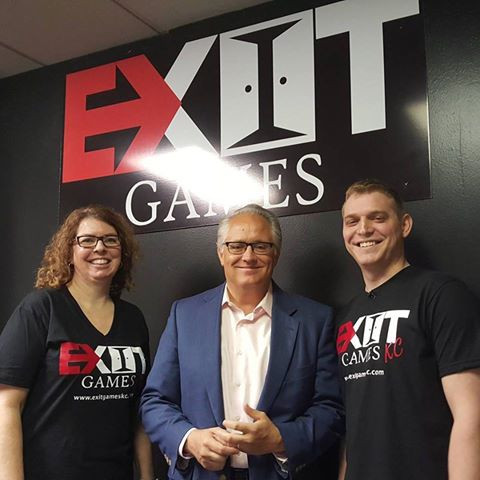 Exit Games KC and Joel Nichols of 41 Action News - On Location at Exit Games KC in Bonner Springs, KS!