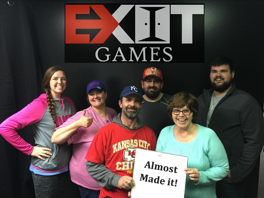 Exit Games KC Test Group 1