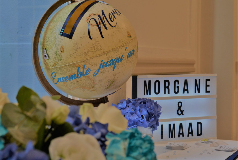 Décoration mariage voyage