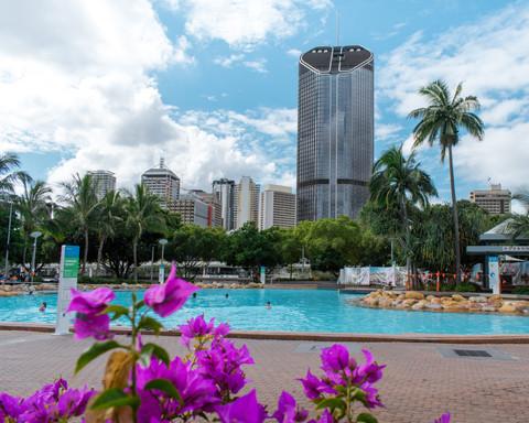 The glorious Southbank Parklands in Brisbane, Australia