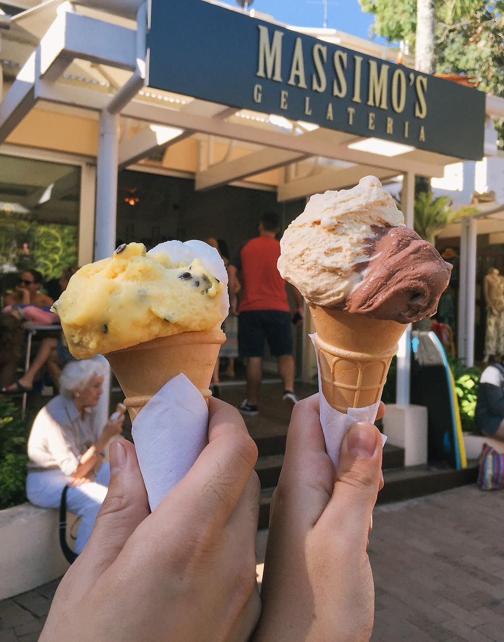 Massimo's Gelato in a cone!