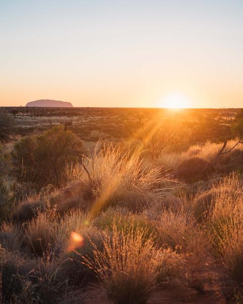 Sunrise at Uluru National Park