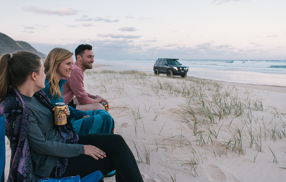 Enjoying the sunset on Fraser Island