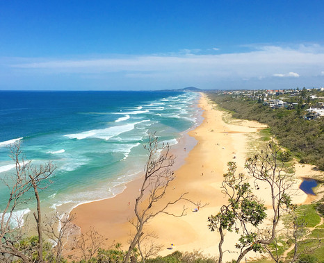View of Sunshine Beach from Noosa National Park
