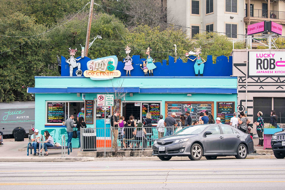 Amy's Ice Cream - a staple of Austin City