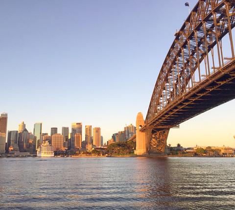 Sunrise at Milson's Point in Sydney, Australia