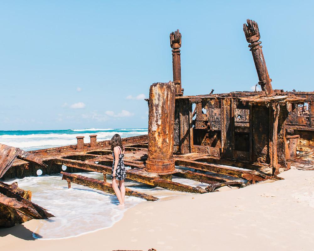 Exploring the Maheno Shipwreck