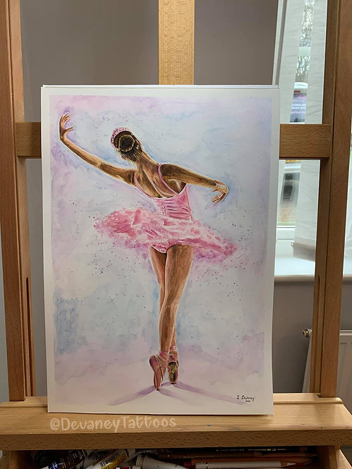 'Pretty in pink' A3 Giclee Print smooth xpression paper