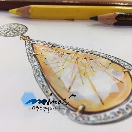#침수정 #주얼리렌더링 따라해봐요~~_#jewelrydesigner #jewelryrendering #jewelrydesign #보석디자인 #보석그리기_#주얼리디자인학원 #주얼리포