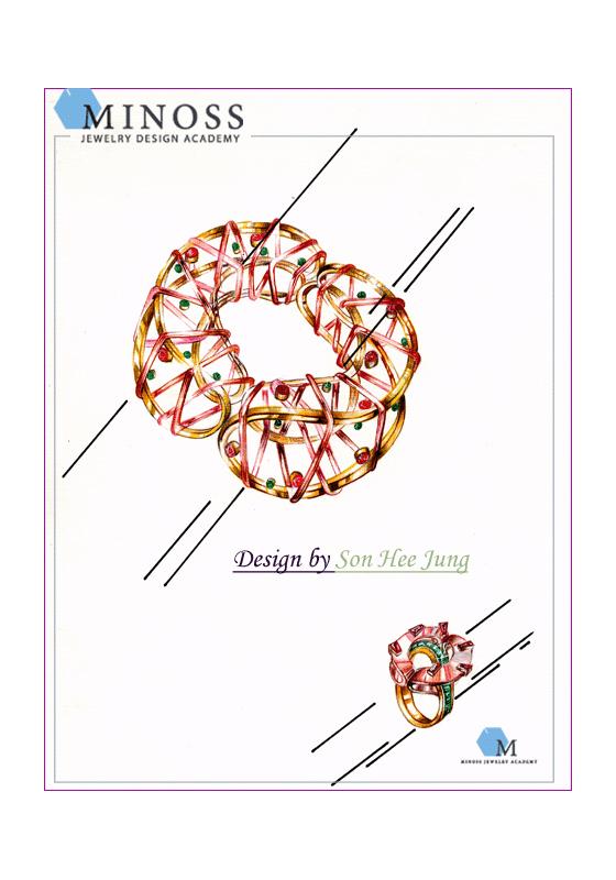 제 1 회 중국국제 주얼리디자인 공모전 3위 랜더링작품 손희정