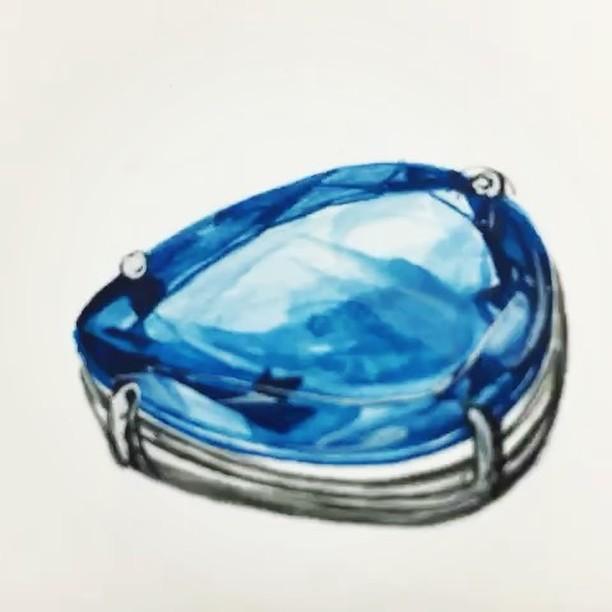 #acquamarine #jewelryrendering _#주얼리렌더링 #아쿠아마린컬러링 #보석색칠하기 #블루보석 #블루토파즈 #주얼리디자이너미노스 #쥬얼리학원 #쥬얼리랜더링
