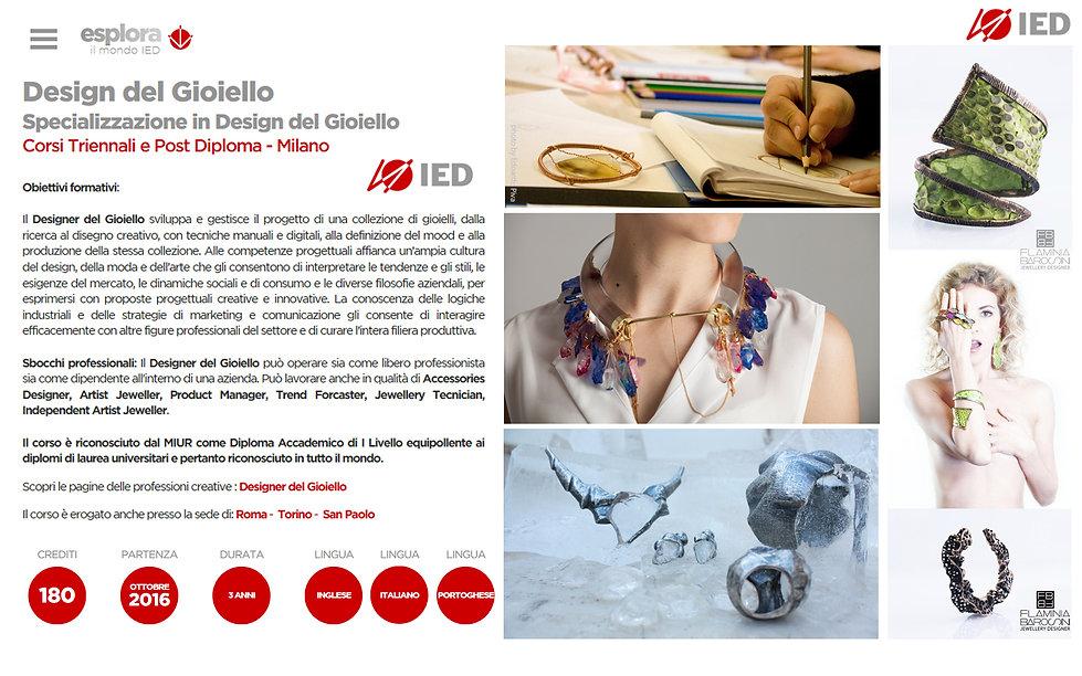 밀라노 패션쥬얼리디자인유학 금속공예전공