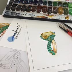 #주얼리디자이너 #파인주얼리디자인 #보석렌더링 따라잡기 #드그리소고노 #degrisogono #jewelryrendering #jewelrydesignstudio #minoss #