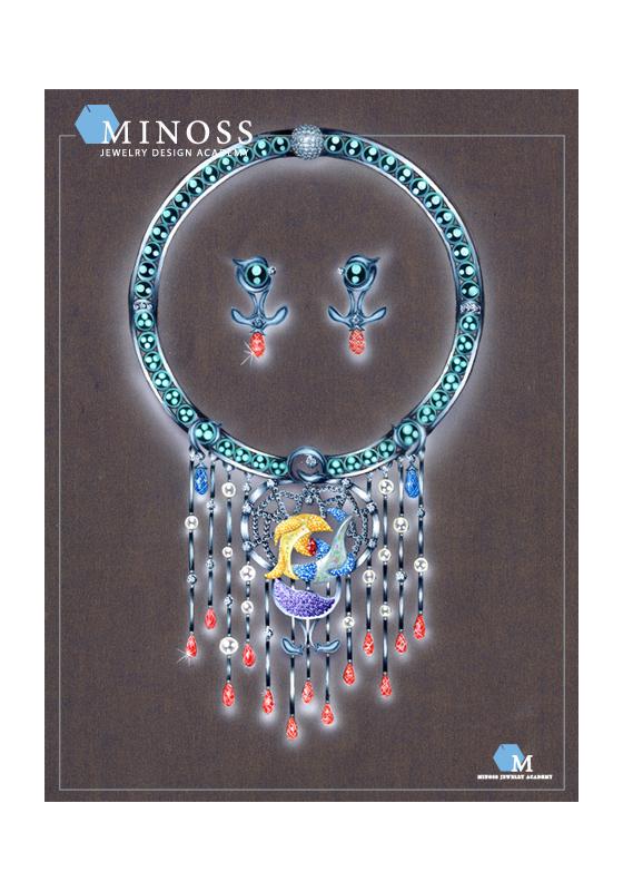 2008 국제 주얼리 디자인 공모전 입 선 미노스 주얼리 아카데미 단과 윈터스쿨과정 정 화 현