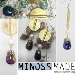 #minosslab #minossjewelry #minoss #minossmade #earring #gemstoneearrings #주얼리브랜드 #미노스메이드 #원석귀걸이 #귀걸이